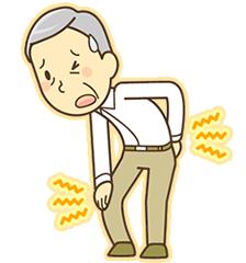 膝に痛みがある男性のイラスト